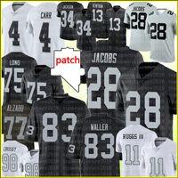 "28 Josh Jacobs Jersey 83 Darren Waller 4 Derek Carr 34 Bo Jackson Las""Vegas""Raiders""Football Jerseys Maxx Crosby Hunter Renfrow Henry Ruggs III Lyle Alzado"