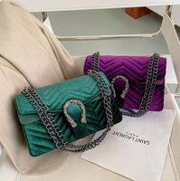 Factory wholesale women handbag new leather shoulder bag in winter street trend wavy women messenger bag sweet ladies leather fashion bag