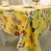 tablecloths cheap 2021 - Cheap Price Dining Tablecloth Rectangle Table Cloth Household Cloth Hotel Restaurant Fabric Cover