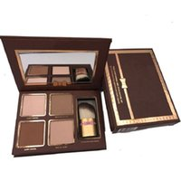 In stock Make up Highlighters eyeshadow Palette Nude Color Cosmetics Face Concealer Makeup Chocolate with Brush