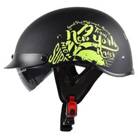 Green Motorcycle Helmet Half Face Vintage Retro German Scooter Men Helmet Head Safety Protection Gear Motorbike Crash