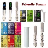 Friendly Farms Vape Cartridge Atomizers 0.8ml Ceramic Glass Thick Oil Dab Pen Wax Vaporizer Cartridgets E Cigarettes 510 Thread Empty Carts
