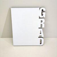 GRAD Woodiness Sublimation Blank Frames MDF DIY Photo Frame Three Dimensional Blank Slate Letter Shape Laser Cutting Frames Home Accessory