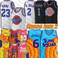 6 LeBron Jersey James Bugs Lola Bunny Tune Squad Basketball Jersey Space Jam 2 Movie Hip Hop Throwback 23 Michael Tweety Bird Taz Jerseys Retro