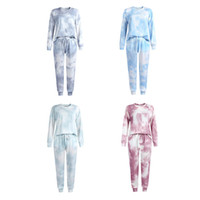 oxford color shirt 2021 - KT Newest INS Unisex Clothing Sets Adults Die Tie Pajamas Straps Home Clothes Pure Color Cotton Women Sleepwear Homewear