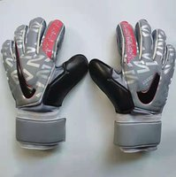 Size 8 9 10 adult brand Goalkeeper Gloves with fingersave protection bar Latex Soccer Goalie Football Luvas Guantes