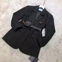 21FW Women Jacket Down Parkas Long Coat Winter Style With Betl Corset Lady Slim Fashion Jackets Pocket Outsize Warm Coats S-L