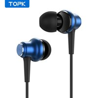 Wholesale Topk F37 mm Wired Headphones Bass Sound In ear Sport Earphone Earbuds Gaming Headset with Mic for Iphone