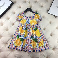 High Quliaty Baby Girls Dress tops 2021 Summer Sweet Kids Girl Dresses Children party Dress Clothing