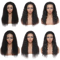 Straight Human Hair 4X4 Lace Closure Wigs for Women Wholesale Brazilian Kinky Curly Body Water Deep Wave 180% Density 13X4 Frontal Wig