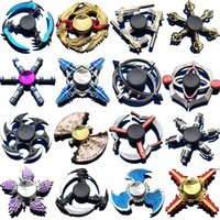 plating metal hand spinners 2021 - Hand Spinner Zinc Alloy Metal Fidget Spinner Fingertip Gyro Spinning Top Decompression Anxiety Toys Many Styles Mixed HWD5190