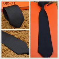 7.0cm silk ties high quality yarn-dyed silk tie brand men's business tie striped tie gift box