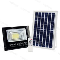 Solar Floodlights 25W 40W 60W 100W 200W Yard Lamp IP66 6500K Auto With Pannel Outdoor For Garden Street Garage Park DHL