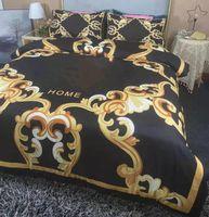 Designer 4pcs Bedding Sets Cotton Woven Queen Size European Style Quilt Cover Pillow Cases Bed Sheet Duvet Comforter Covers