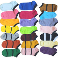 Multicolor color Ankle Socks Other Home Textile Without Cardboad Tags Sport Cheerleaders Black pink Short Sock Girls Women Cotton Sports Skateboard Sneaker WY541