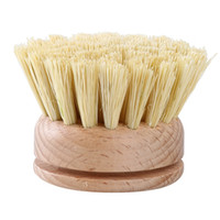 Scrubbing Heat Resistant Washing Pot Brush Bowl Durable Dish Cleaning Tool Skillet Wooden Handle Kitchen Supplies