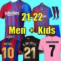 tops Camisetas de football MESSI Kun Aguero Barcelona soccer jerseys BARCA FC 20 21 22 ANSU FATI 2021 2022 GRIEZMANN F.DE JONG DEST PEDRI kit shirt men kids sets socks