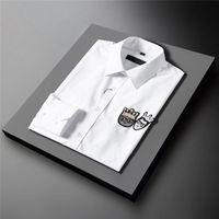 2021 Fashion Men Shirt Long Sleeve Slim Fit Casual Male Shirts Designer Regular hirt S~3XL