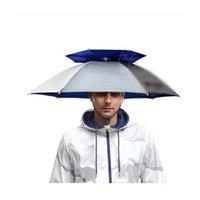 360 degrees All Round Professional Head-mounted Cap Umbrella 77CM double layer Outdoor Anti-uv Windproof Sunshade Hat Rain Gear For Fishing Shutterbug Farmland
