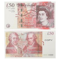 Play Paper Printed Money Toys Uk Pounds GBP British 10 20 50 commemorative Prop Movie Banknotes toy For Kids Christmas Gifts or Video Film