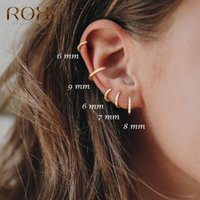 Discount sterling silver nose rings Earrings for Women or Men 925 Sterling Silver Small Hoop Earrings Ear Bone aros Tiny Ear Nose Ring Girl aretes ear hoops A30