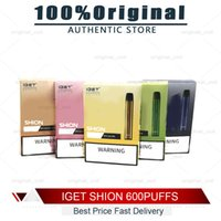 Original Iget Shion Disposable Pod Device Kit 600 Puff 400mAh 2.4ml Prefilled Portable Vape Stick Pen Bar Plus XXL Max 100% Authentic