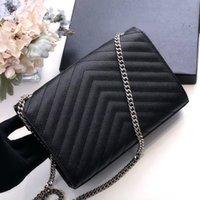 Genuine Leather handbags Chain Purses Shoulder Bags Fashion Clutch Envelope Lady Cowhide Handbag Presbyopic Card Holder Purse Messenger Women Wholesale