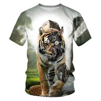 lion king 3d shirt 2021 - Summer fashion mens t-shirt for the king of the forest tiger lion 3D printed casual t-shirt mens hip-hop street t-shirt for me