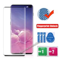 case friendly 9d Curved Full Cover Tempered Glass Screen Protector For Samsung Galaxy S21 Ultra S20 Note20 S10 Plus S8 S9 NOTE8 NOTE9 fingerprint unlock film