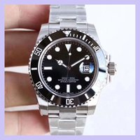 U1 Factory ST9 Ceramic Bezel Black Sapphire Date Stainless Steel 40mm Automatic Mechanical Stainless Steel Mens Men 116610 Wristwatches