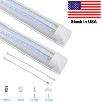 LED Shop Light, 8FT Tube Lights, 6500K, Cold White, V Shape, Clear Cover, Hight Output, Linkable Shops Lights,for Garage