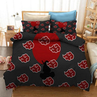 Naruto 3D Printing Cartoon Comforter Bedding Set Anime Kids Adult Duvet Cover Set Queen King Double Bed Home Housse De Couette Naruto Gift