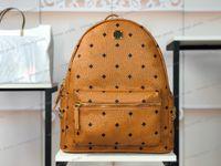 High quality Genuine Leather fashion backpack shoulder bag Luxury designer messenger for women men back pack canvas handbag School classic parachute fabric