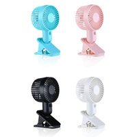 electronics cooling fans 2021 - Fan Clip Electronic Double-Blade Air Cooling Table Adjustable USB Rechargeable Portable Home Office School