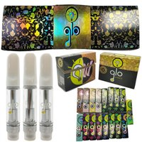 GLO Extracts Vape Cartridges 0.8ml 1ml Empty Vapes Pen 1 Gram Atomizers Carts 510 Thread Thick Oil Glass Tanks Ecigs Vaporizer NEW Packaging Boxes