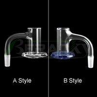 Beracky Two Styles Full Weld Beveled Edge Smoking Blender Quartz Banger 20mmOD 45&90 Seamless Nails For Glass Water Bongs Dab Oil Rigs Pipes