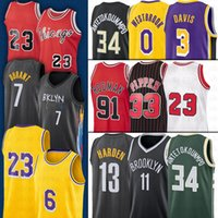 7 Kevin Antetokounmpo Durant Basketball Harden Jersey 23 LBJ 33 Scottie 91 Dennis Pippen 11 Kyrie Rodman Irving 3 Anthony 34 Giannis Davis NCAA Jerseys