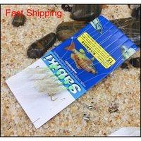 6pcs bag High Carbon Steel Hook True Skin Feather Fishhooks Fishing Wire Bass Sea Carp Luminous Fishing String Hooks FIc home2006
