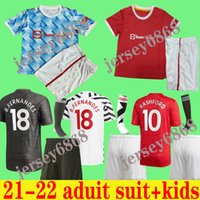 2021 POGBA MANCHESTER FERNANDES CAVANI UTD RASHFORD Soccer Jersey Kids Man kit Football Shirt 20 21 22 equipment Adult suit kids+socks