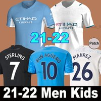 Manchester soccer jersey 20 21 22 G. JESUS CITY STERLING FERRAN DE BRUYNE KUN AGUERO 2021 2022 football shirts MAN uniform men + kids kit