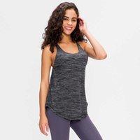 NWT Yoga Vest 2 in 1 FLY Crisscross Yoga Gym Tank Tops+Inside Bra Women Loose Fit Soft Workout Fitness Vest T200628