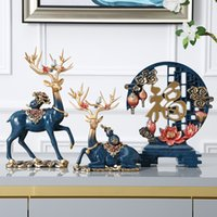 Wholesale Modern Chinese Style Deer Wine Cabinet Decorations Moving into the New House Wedding Gift Creative Home Living Room TV Cabinet Decoration De