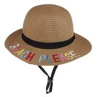 Summer children's sunscreen straw Hat Little sunshine Beach Caps Do not disturb Foldable Sun Hats