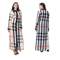 Women's Plaid Print Dresses Casual Stand Collar Loose Long Sleeve Skirts Ladies Fashion Cardigan Button Shirt Dress Oversized Women Clothing L-7XL