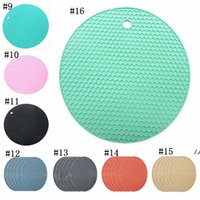 cooking utensils holder 2021 - Table Silicone Pad Non-slip Heat Resistant Mat Coaster Cushion Placemat Pot Holder Kitchen Accessories Cooking Utensils DWE5458