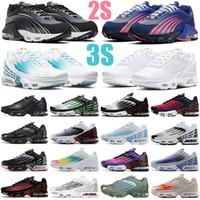 tn plus 2s 3s men women shoes triple white Black Iridescent Crimson aqua Laser Blue Ghost Green mens womens trainers sports sneakers