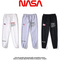 Discount nasa flag co branded NASA national flag embroidery casual pants hip hop hip hop sports pants