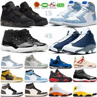 Jumpman Jordan4s Basketball Shoes Air Jordan Retro 1s 4s Black Cat men women Raging Bull UNC 11s 25th Anniversary mens Outdoor Sports Trainers Sneakers