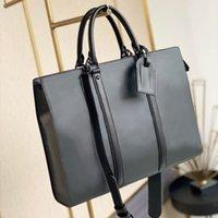 M45265 SAC PLAT HORIZONTAL ZIPPE briefcases bag genuine leather mens shoulder handbag luxury designer briefcase laptop computer totes business crossbody bags