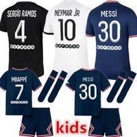 21 22 MESSI MBAPPE KEAN soccer jersey 2021 SERGIO RAMOS MARQUINHOS VERRATTI KIMPEMBE Maillots de football shirt ICARDI DI MARIA DRAXLER kids kit uniforms